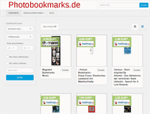 Tablet Preview of photobookmarks.de